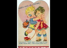 From the 1930s... creepy Valentine's Day Cards. More great ones care be found here!   www.huffingtonpos...