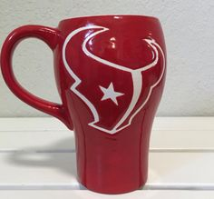 A personal favorite from my Etsy shop https://www.etsy.com/listing/456364158/houston-texans-beer-stein-battle-red