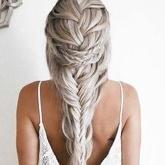 54 Magical Ways to Style a Mermaid Braid Gorgeous Blonde, Gorgeous Hair, Hair Styles 2016, Curly Hair Styles, Luxy Hair Extensions, Pinterest Hair, Pretty Hairstyles, Teenage Hairstyles, Easy Hairstyles