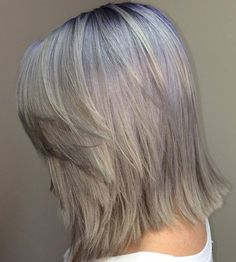 Shoulder Length Layered Ash Blonde Hairstyle