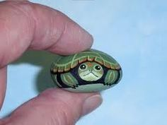 turtle painted rock- cute:)
