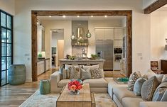 Home Living Room Design. 20 Beautiful Home Living Room Design. top Living Room Design Ideas [the Best Tips for Your Next Home Living Room, Interior Design Living Room, Living Room Designs, Living Spaces, Kitchen Living, Room Kitchen, Living Area, Interior Paint, Kitchen Island