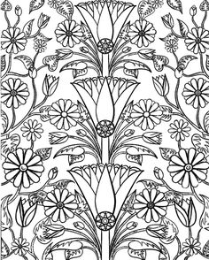 442 Best Coloring Pages Flowers Images Coloring Pages Colouring