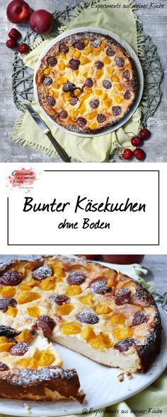 Bunter Käsekuchen ohne Boden | Backen | Kuchen | Rezept