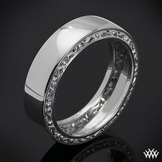 This Men's Verragio Wedding Ring features a compelling design that will highlight your guys individuality without overpowering it. The width of this ring is 7mm. Please allow 4 weeks for completion. Platinum rings carry a 5 week turnaround time. If you have any questions regarding this item then please contact one of our friendly diamond and jewelry consultants at 1-877-612-6770. MI-7001