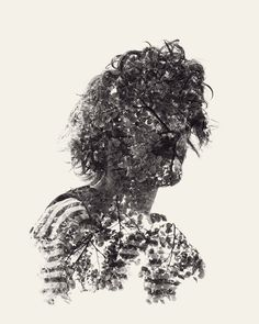 We Are Nature – Multiple Exposure Portrait by Christoffer Relander http://www.christofferrelander.com