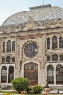 Sirkeci train terminal.  A stop for the Orient Express.  Istanbul, TURKEY.