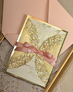An invite to feed our gold addiction! We're completely smitten with @4lovepolkadots wedding invitations.    #wedding #invitations #gold #stationery #invites #love #sparkle #polkadots via @angela4design