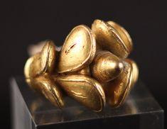 Golden Akan Ghana Ring #931 | Rings | Jewelry — Deco Art Africa - Decorative African Art - Ethnic Tribal Art - Art Deco