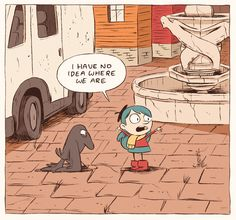A panel from Luke Pearsons Hilda and The Bird Parade