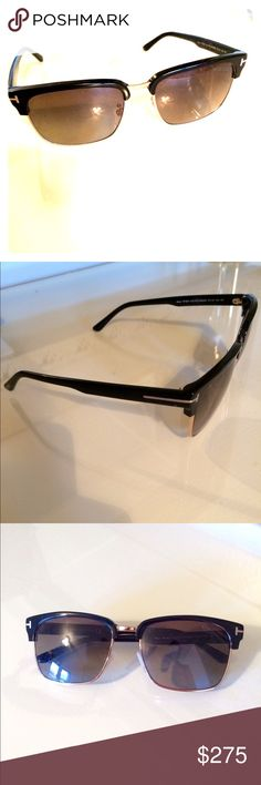Tom Ford Men's Sunglasses Polarized Men's Authentic Sunglasses. Brand new, in excellent condition and no scratches! Gold trim, black frame and dark lenses. Tom Ford Accessories Glasses