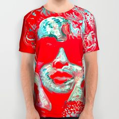 Madonna All Over T-Shirt with art by Matt Pecson for Society6.