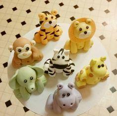 Fondant Animals  Animal Birthday  Animal Theme  by SweetFondant