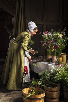 The Flower Girl - The Tudor Group at Haddon Hall -