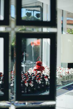 Original Wedding Favor Lantern Ikea Black White Red Wedding