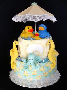 Bath/Duck Themed Diaper Cake