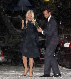 Royals & Fashion - Prince Haakon and Princess Mette Marit attended the opening of an exhibition in Oslo.