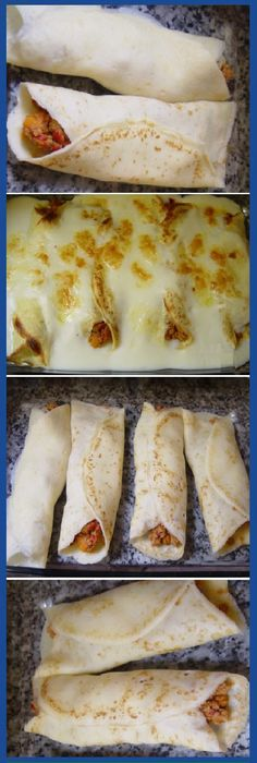 """Despues de mas de 20 años aprendí a hacer estes Crepes rellenas de carne al qu… After more than 20 years I learned to make these crepes stuffed with meat with cheese """"I tell you"""" are the best in the world! Crepes Rellenos, Kids Meals, Easy Meals, Crepes And Waffles, Deli Food, Mexican Food Recipes, Ethnic Recipes, Crepe Recipes, Cooking Recipes"""