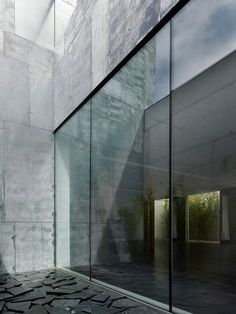concrete and glass.