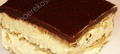 Absoluut verslawend ~ Ideal Melk Sjokolade-koek besluit self, koek of poeding Bestanddele Koek 375 ml Meel 250 ml Melk 250 ml Suiker 2 ml Sout 10 ml Bakpoeier 125 ml Olie 60 ml Kakao 125 ml Kookwat… No Bake Eclair Cake, No Bake Cake, Sweet Recipes, Cake Recipes, Dessert Recipes, Dessert Ideas, Drink Recipes, Yummy Recipes, No Bake Desserts