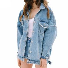 Loose Classic Denim Jean Jacket