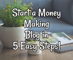 Start a Money-Making Blog in 5 Easy Steps! So you're wondering if it's actually possible to earn extra money or even make a full-time income from a blog.