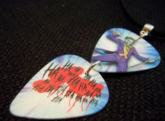 The Joker Guitar Pick and Black Suede Cord Necklace by ItsYourPickToo on Etsy
