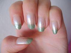 Lovely Stuff <3: Nail Art Green Gradient Nails