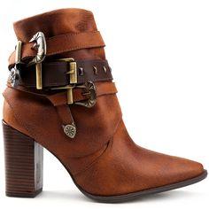 63908deb88 Compre Bota Crysalis Multi Tiras Fivelas Caramelo na Zattini a nova loja de  moda online da Netshoes. Encontre Sapatos