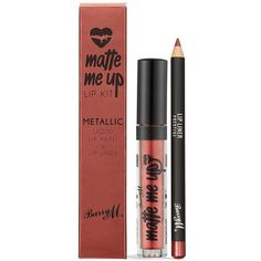 Barry M Metallic Liquid Lip Kits (€7,84) ❤ liked on Polyvore featuring beauty products, makeup, lip makeup, barry m, barry m cosmetics and barry m makeup