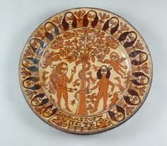 Adam & Eve Charger Slipware signed and dated by Thomas Toft 1674 | Flickr - Photo Sharing!
