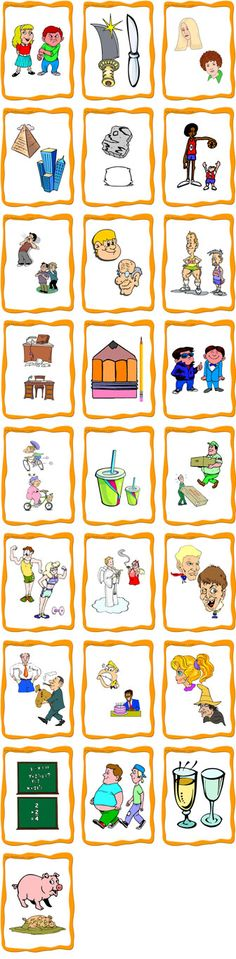 FlashCards Preview Opposite Printable