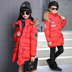 57.00$  Buy here - http://alie0n.worldwells.pw/go.php?t=32783003757 - Kids boys and girls winter padded jacket 2016 new baby boys and girls fashion clothing big virgin coat 6/7/8/9/10/11/12/13 years