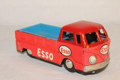 1960's Made in Japan, Esso Volkswagen Drop Side Pickup Truck, Nice Original