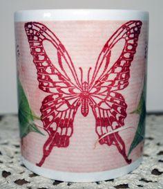 Butterfly & Leaves Ceramic Mug £6.99