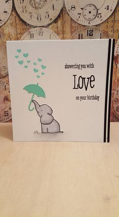 """made with Avery Elle """"ellie"""" stamp set and W plus 9 stamps and die set love showers."""