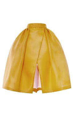 Shop Pleated Hip Wrap Skirt by DELPOZO for Preorder on Moda Operandi