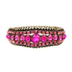 Embellished Stretch #Bracelet by Chloe + Isabel. An ornate vintage silhouette in fiery #fuchsia hues, this wrist statement is a stand-alone knockout or a glam addition to any arm party. www.chloeandisabelseattle.com $48