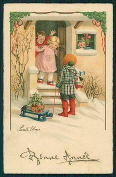 Artist:Pauli Ebner -1873-1949 Artist Signed Pauli Ebner Children Christmas Dondorf serie 3230 postcard TC2301 | eBay