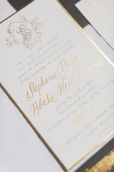 Photography: Taylor Lord Photography - taylorlord.com Stationery Designer: Papellerie - www.papellerie.com/  Read More: http://www.stylemepretty.com/2014/07/29/black-tie-houston-wedding-at-hotel-zaza/