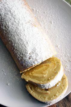 Mi Diario de Cocina | Rollo con crema de vainilla | http://www.midiariodecocina.com