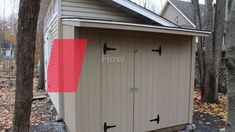 Learn how to build double shed doors #shed