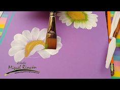 Como pintar margaritas en pinceladas con Miguel Rincón - YouTube