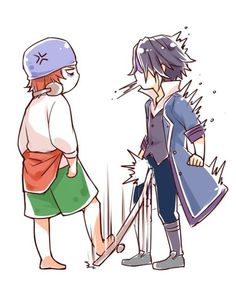 Poof ... | K Project | Yata and Fushimi.