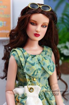 """Tonner's Antoinette Savage wearing """"Costa Rica"""" by Great North Woods Design"""