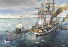 USS Monitor in action