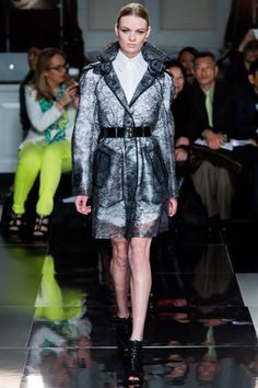 Clear lace print trenchcoat at @Jason Wu
