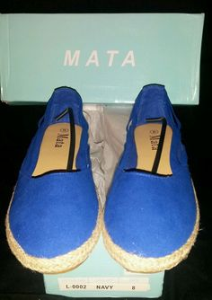 SALE LADIES SHOES! NEW Womens size 8 NEW Mata brand royal blue flats $8.00 @eBay HURRY