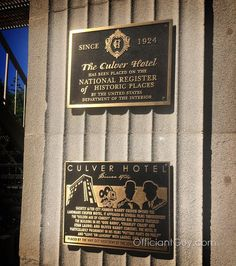 """@culver_hotel """"Shortly after city founder Harry Culver opened the landmark Culver Hotel, it appeared in several films throughout the…"""