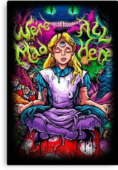 Trippy Drawings, Art Drawings, Alice In Wonderland Drawings, Arte Dope, Eleanor And Park, Theme Tattoo, Psychadelic Art, Trippy Painting, Trippy Wallpaper